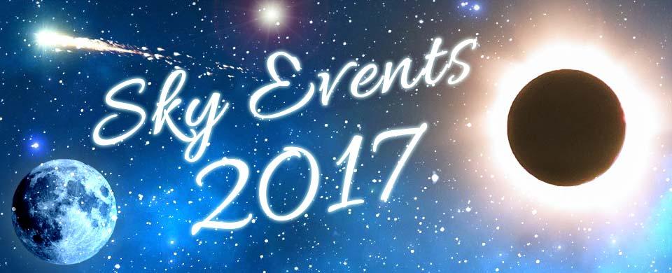 Night Sky Events Calendar 2017